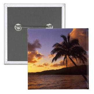 Los E.E.U.U., Hawaii, Kauai, salida del sol colori Pin Cuadrada 5 Cm