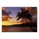 Los E.E.U.U., Hawaii, Kauai, salida del sol colori Felicitacion