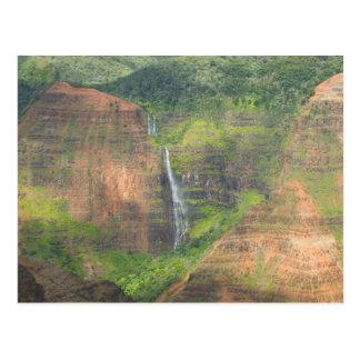 Los E.E.U.U., Hawaii, Kauai, Waimea, barranco de W Postales
