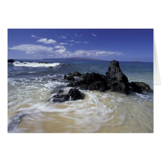 Los E.E.U.U., Hawaii, Maui, Maui, playa de Makena, Tarjeta De Felicitación