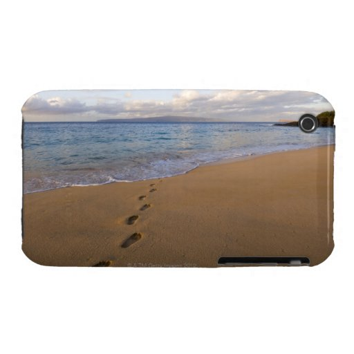Los E.E.U.U., Hawaii, Maui, Wailea, huellas en la  iPhone 3 Case-Mate Coberturas