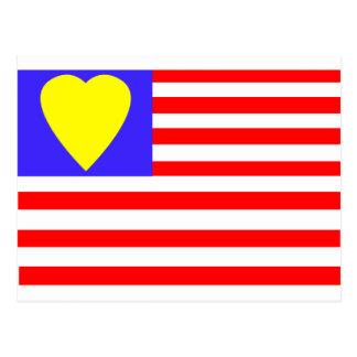 ⅠLos E.E.U.U. heart-2 Postal