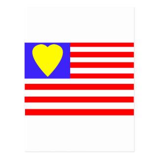 ⅠLos E.E.U.U. heart-2 Tarjetas Postales