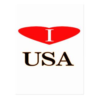 ⅠLos E.E.U.U. heart-3 Postales