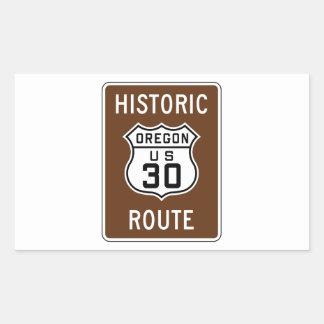 Los E.E.U.U. históricos 30, Oregon Pegatina Rectangular