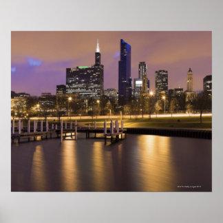 Los E.E.U.U., horizonte de Illinois, de Chicago, d Poster