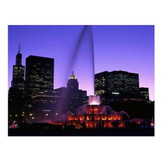 Los E.E.U.U., IL, Chicago. Fuente de Buckingham en Postales