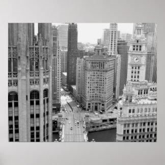 Los E.E.U.U., IL, Chicago, lazo del hotel Póster