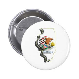 LOS E E U U Illinois 3d Pin