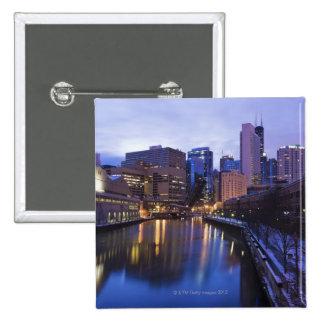 Los E E U U Illinois Chicago ciudad reflejaron Pins