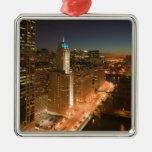Los E.E.U.U., Illinois, Chicago: El lazo: Edificio Ornamentos De Navidad
