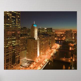 Los E.E.U.U., Illinois, Chicago: El lazo: Edificio Póster