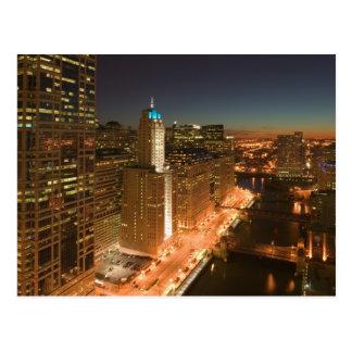 Los E E U U Illinois Chicago El lazo Edificio Tarjeta Postal