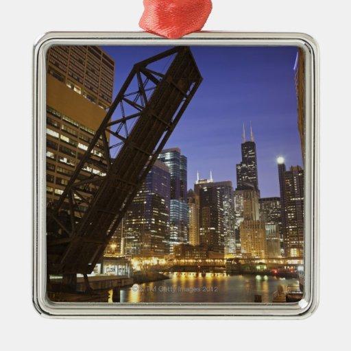 Los E.E.U.U., Illinois, Chicago, el río Chicago Ornaments Para Arbol De Navidad