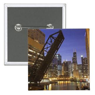 Los E E U U Illinois Chicago el río Chicago Pin