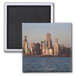 Los E.E.U.U., Illinois, Chicago, horizonte de la c Imanes De Nevera
