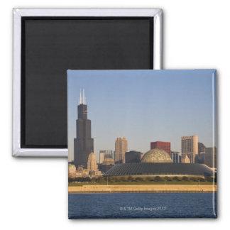 Los E.E.U.U., Illinois, Chicago, horizonte de la c Imán Cuadrado