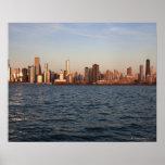 Los E.E.U.U., Illinois, Chicago, horizonte de la c Impresiones