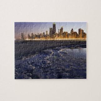 Los E.E.U.U., Illinois, Chicago, horizonte de la c Puzzle