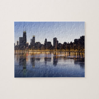 Los E.E.U.U., Illinois, Chicago, horizonte de la c Rompecabeza Con Fotos