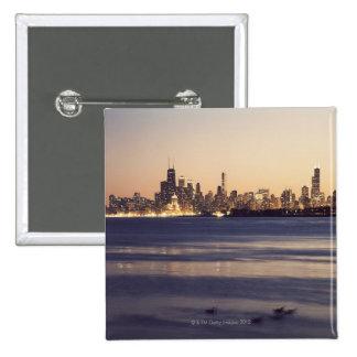 Los E E U U Illinois Chicago horizonte en la p Pin