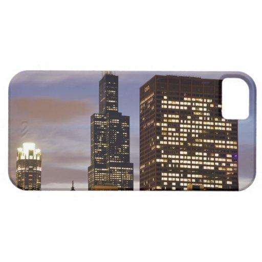 Los E.E.U.U., Illinois, Chicago, rascacielos ilumi iPhone 5 Funda