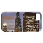 Los E.E.U.U., Illinois, Chicago, rascacielos ilumi iPhone 5 Case-Mate Coberturas
