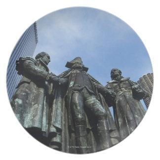 Los E.E.U.U., Illinois, Chicago, rascacielos y est Platos De Comidas