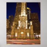 Los E.E.U.U., Illinois, Chicago, torre de agua ilu Poster