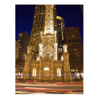 Los E.E.U.U., Illinois, Chicago, torre de agua Tarjeta Postal