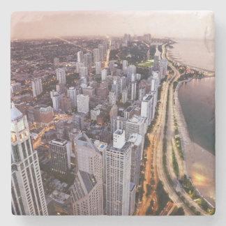 Los E.E.U.U., Illinois, Chicago, vista aérea del Posavasos De Piedra