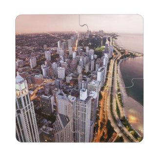 Los E.E.U.U., Illinois, Chicago, vista aérea del Posavasos De Puzzle