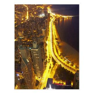 Los E E U U Illinois vista aérea de Chicago en Postales