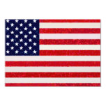 Los E.E.U.U. - Invitación de la bandera americana Invitación 8,9 X 12,7 Cm
