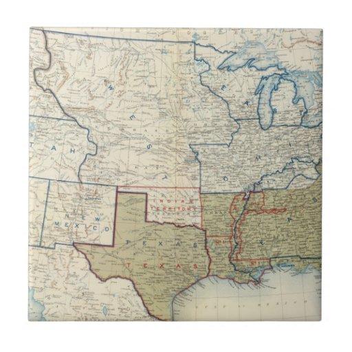 Los E.E.U.U. junio de 1861 Azulejos