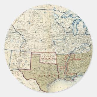 Los E.E.U.U. junio de 1861 Pegatina Redonda