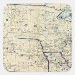 Los E.E.U.U. junio de 1864 Pegatina Cuadrada