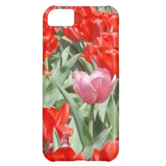 Los E.E.U.U., Kansas, tulipanes rojos con un Funda Para iPhone 5C