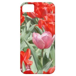 Los E.E.U.U., Kansas, tulipanes rojos con un Funda Para iPhone 5 Barely There