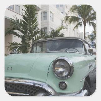 Los E.E.U.U., la Florida, Miami Beach: Beach del Pegatina Cuadrada