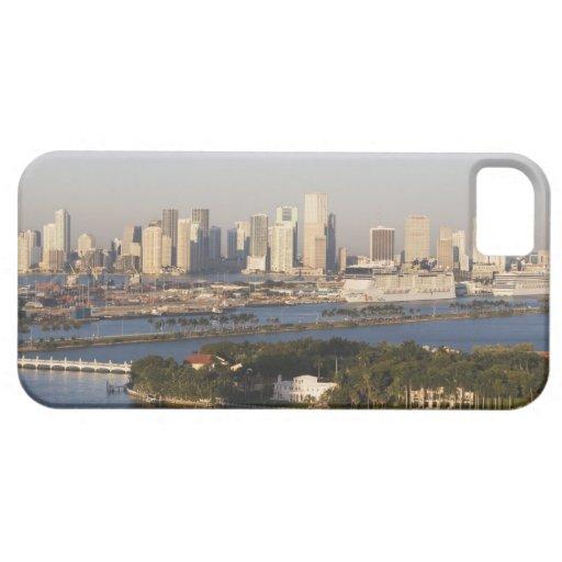 Los E.E.U.U., la Florida, Miami, paisaje urbano co iPhone 5 Case-Mate Cárcasa