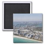 Los E.E.U.U., la Florida, Miami, paisaje urbano co Imán De Nevera