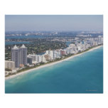 Los E.E.U.U., la Florida, Miami, paisaje urbano co Póster