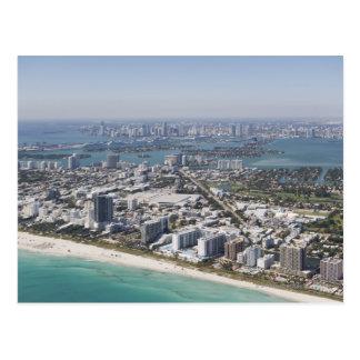 Los E.E.U.U., la Florida, Miami, paisaje urbano Postal