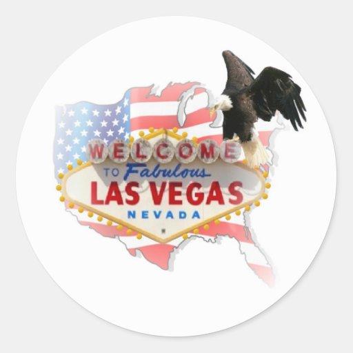 Los E.E.U.U. Las Vegas con el pegatina de Eagle