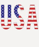 Los E.E.U.U. - Letras de la bandera de los Estados Camiseta