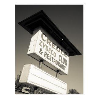 Los E.E.U.U., Luisiana, Henderson. Música criolla Tarjeta Postal