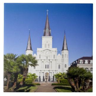 Los E.E.U.U., Luisiana, New Orleans. Barrio francé Azulejo Cuadrado Grande