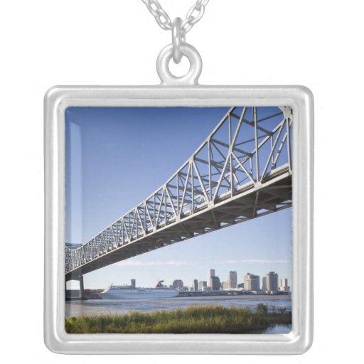 Los E.E.U.U., Luisiana, New Orleans. Horizonte del Colgante Cuadrado