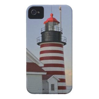 Los E.E.U.U., Maine, Lubec. Faro principal del Case-Mate iPhone 4 Cárcasas